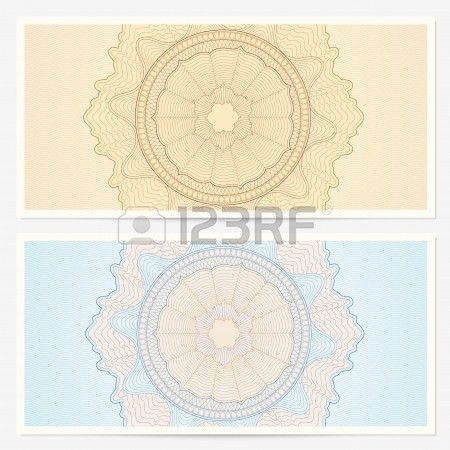 Gift Certificate, Voucher Template With Guillotine Pattern ...