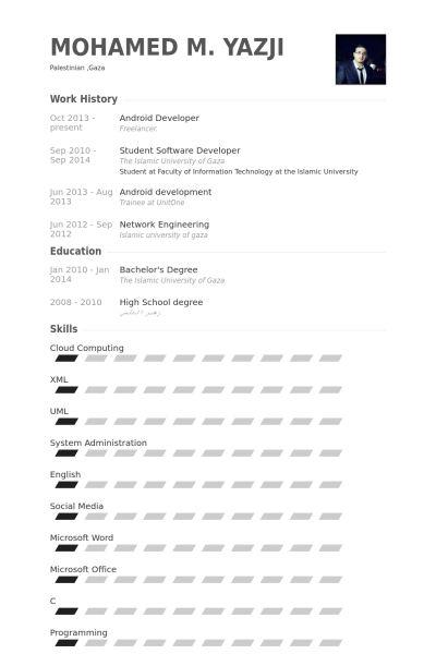 Android Developer Resume samples - VisualCV resume samples database