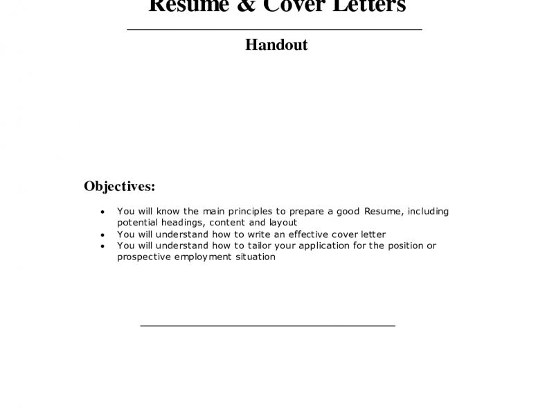 Download How To Make A Cover Letter For A Resume ...