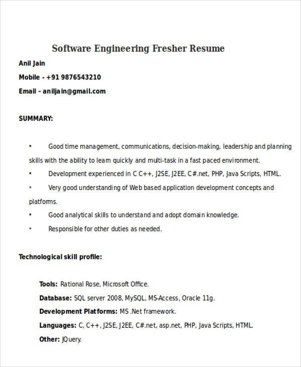 26 Generic Engineering Resume Templates | Free & Premium Templates