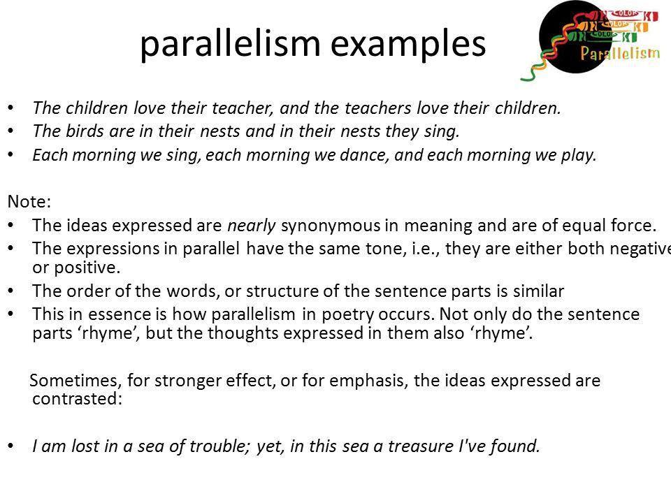 PARALLELISM EXAMPLES - alisen berde