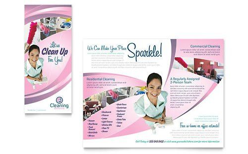 House Cleaning Service | Pamphlet Templates | Home Maintenance