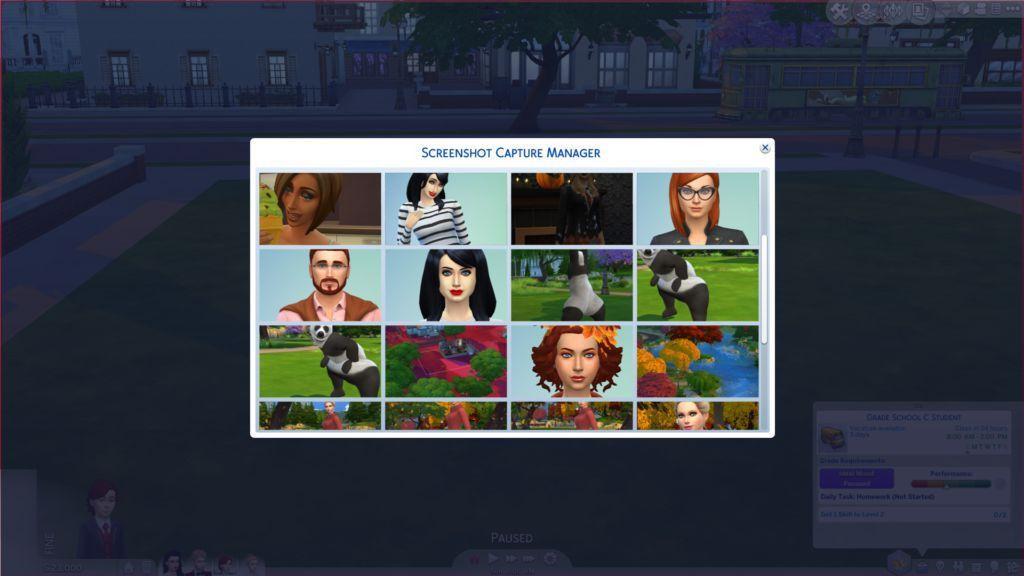Sims 4: New Screenshot Capture Manager - SimsVIP