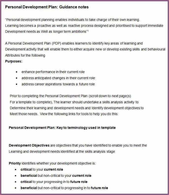 DEVELOPMENT PLAN TEMPLATE | designproposalexample.com