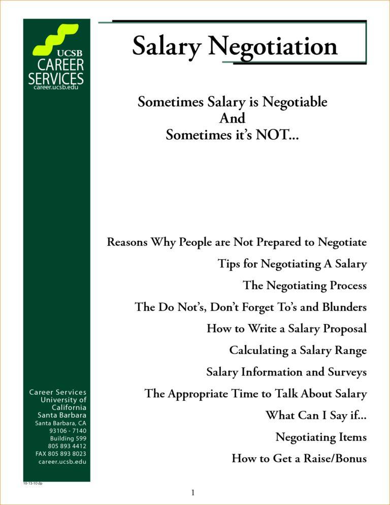 Salary Proposal Template (2) | Best Agenda Templates