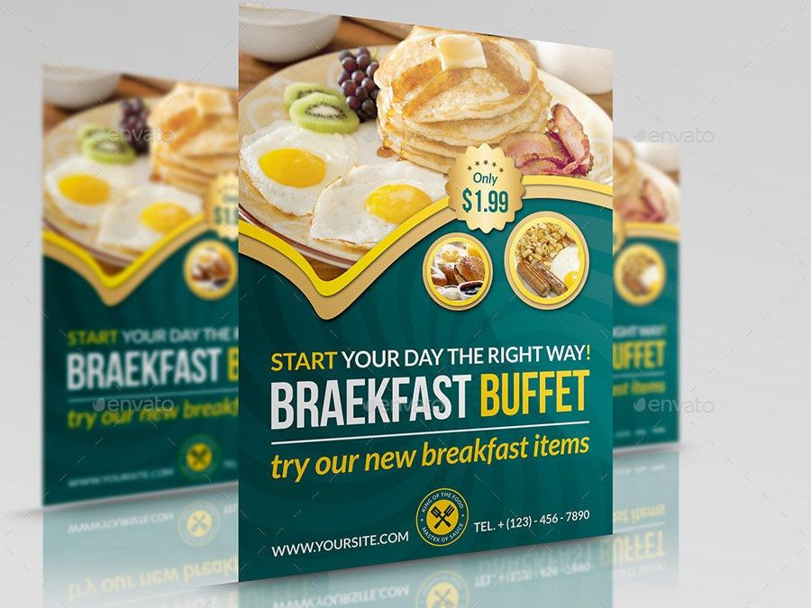 Breakfast Restaurant Flyer Template by OWPictures | GraphicRiver