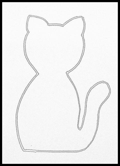 Кошки из фетры выкройка