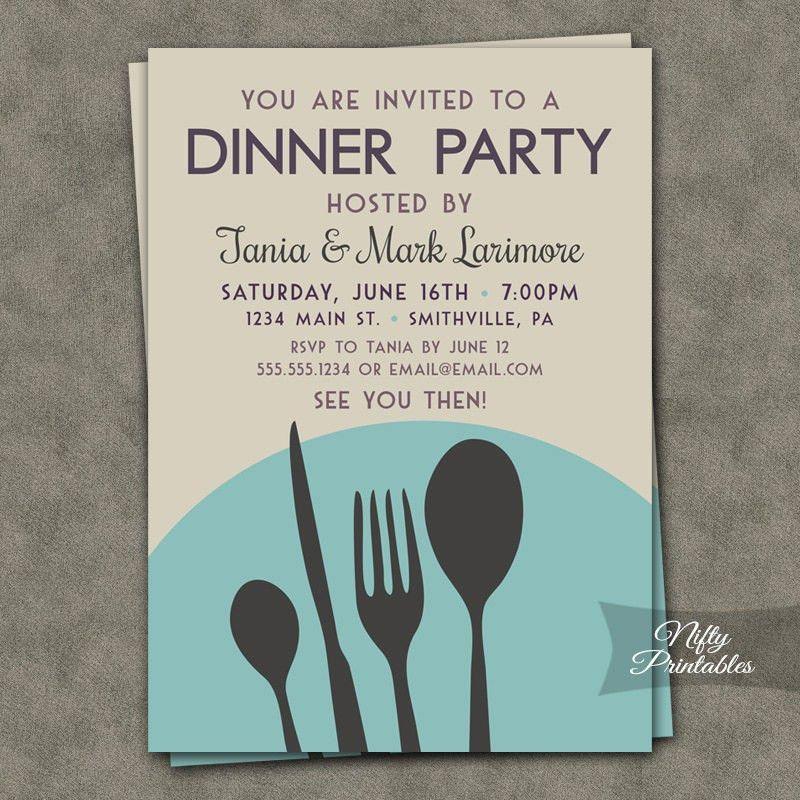 Dinner Party Invitation | christmanista.com
