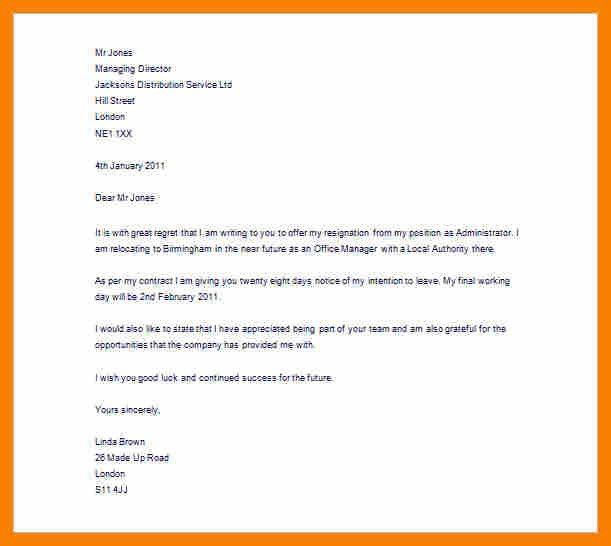 Resign Letter Sample Word Format.Editable Resignation Letter ...