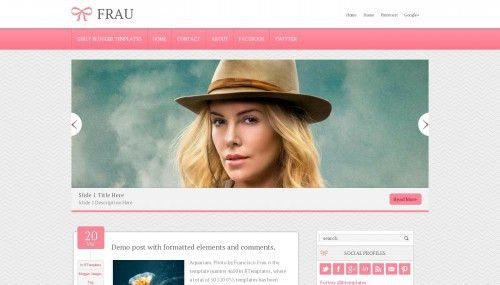 Fashion Blogger templates 2017