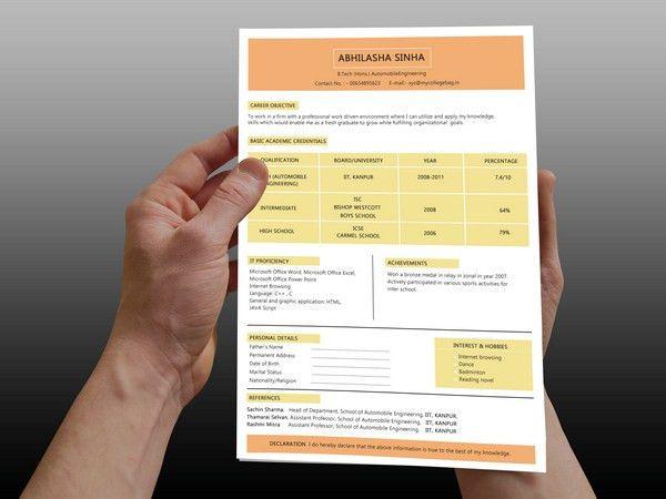 Engineering Job Resume Template   Free PSD, PDF, Word