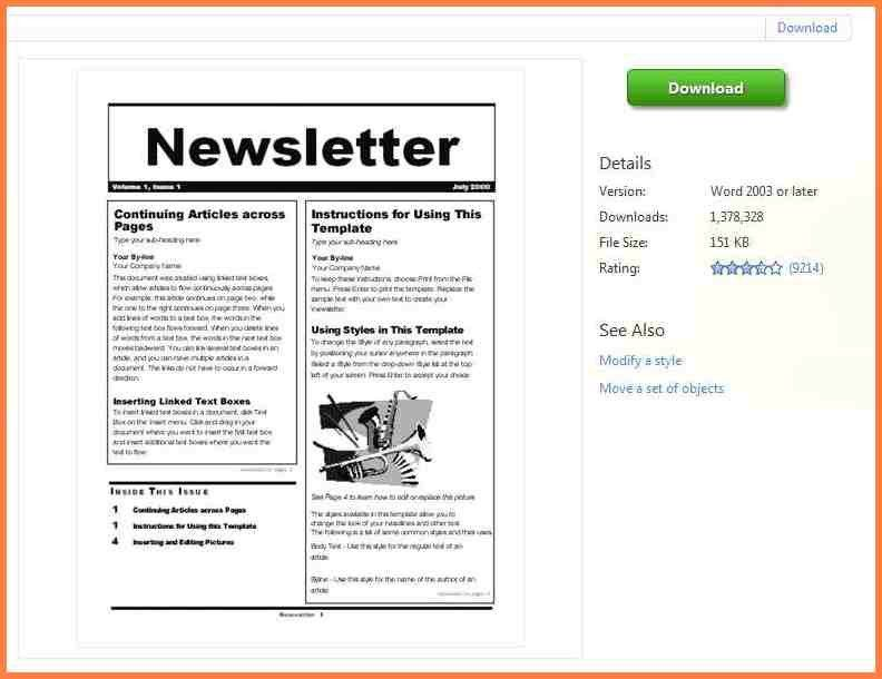 5+ school newsletter templates for word | Newsletter Template