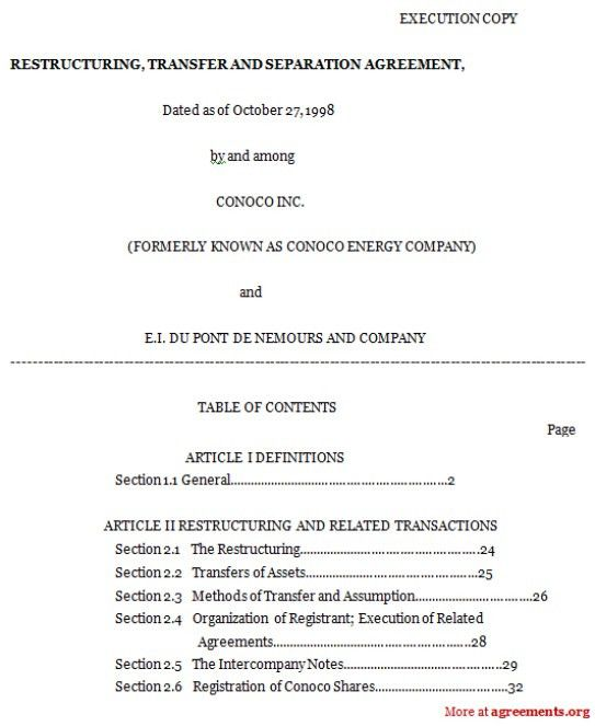 Top 5 Free Formats OF Separation Agreement Templates - Word ...