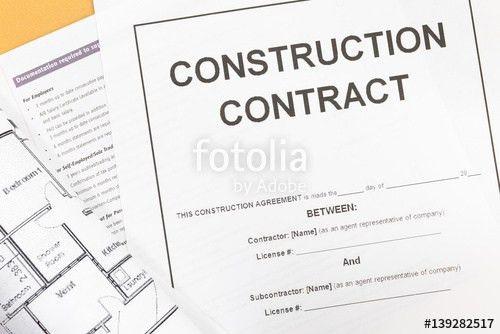 """Close - up Blank construction contract paper"""" Stock photo and ..."""