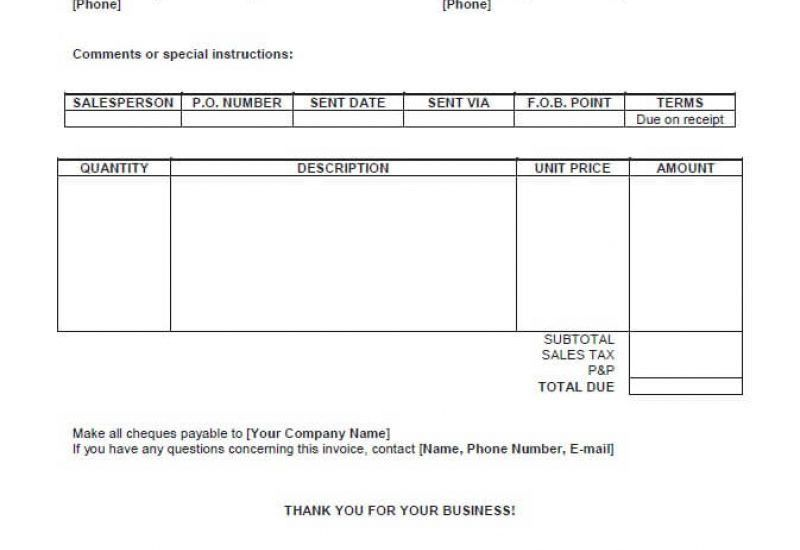 Invoice Template Open Office Free | Enwurf.csat.co