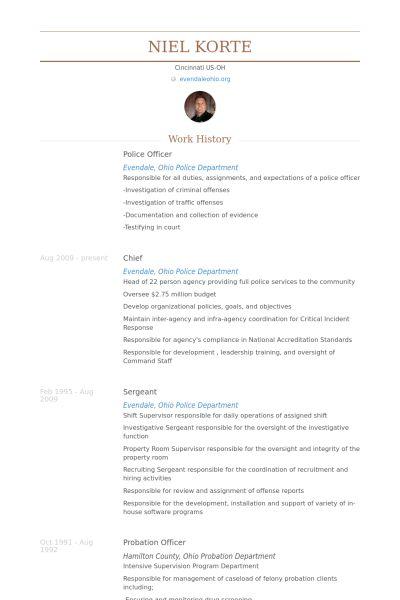Police Officer Resume samples - VisualCV resume samples database