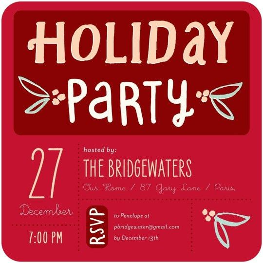 Holiday Office Party Invitations | cimvitation