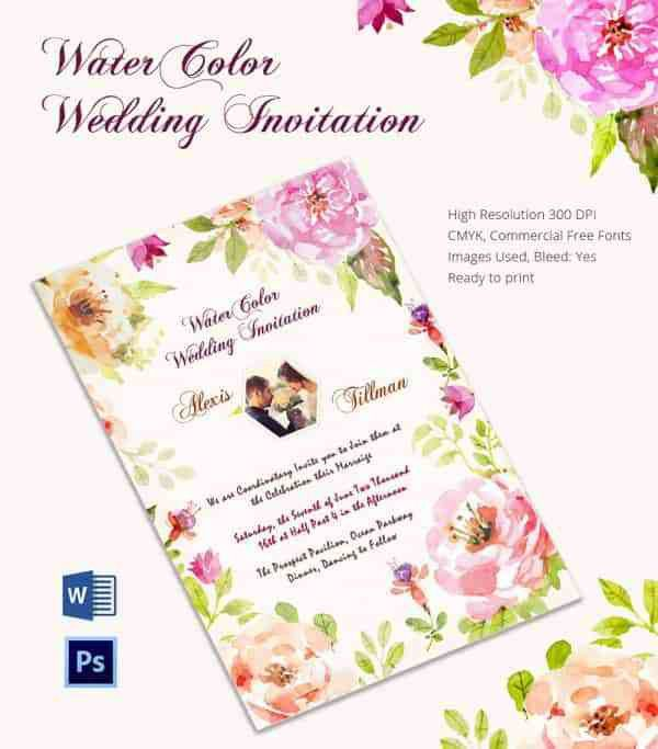 Wedding Card Template. Wedding Invitation With White Dots And ...