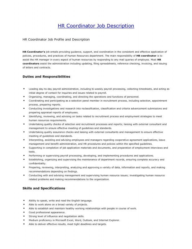 Human Resources Job Description. Job Description Project Flowchart ...