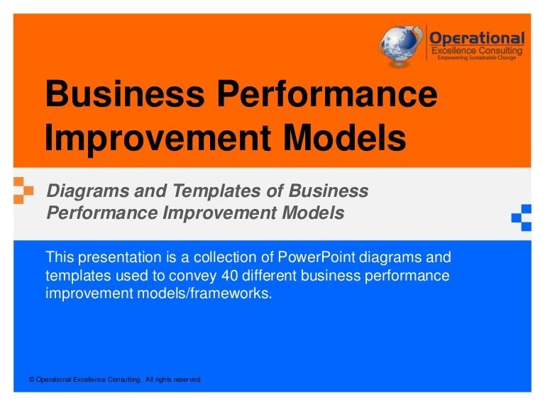Business Performance Improvement Models by Operational Excellence Con…