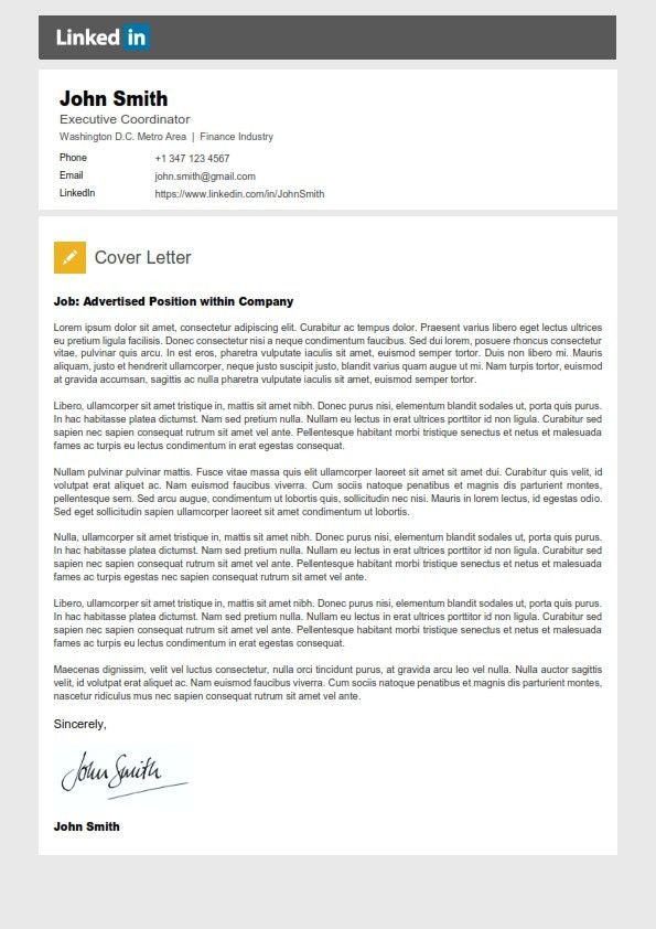 Stunning Design Linkedin Cover Letter 10 Resume Template ...