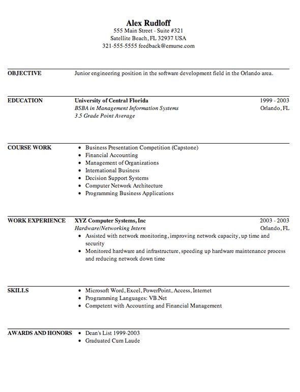 resume template for internship engineering internship resume ...