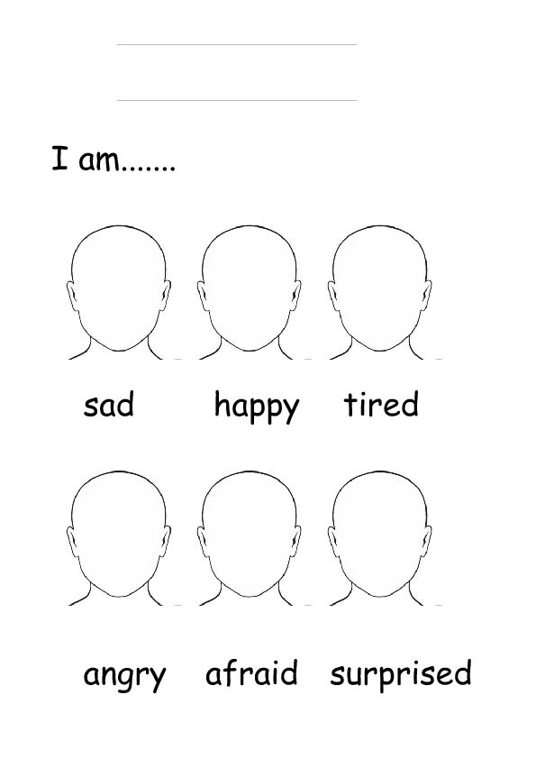 Are You? Emotions - Blank Face Templates