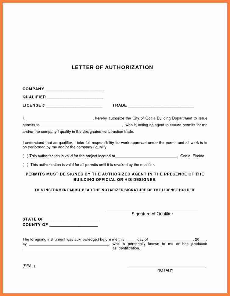 Example Of Authorization Letters. 46 Authorization Letter Samples ...