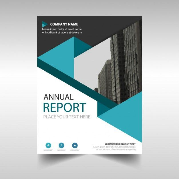 Blue polygonal annual report cover template Vector | Free Download