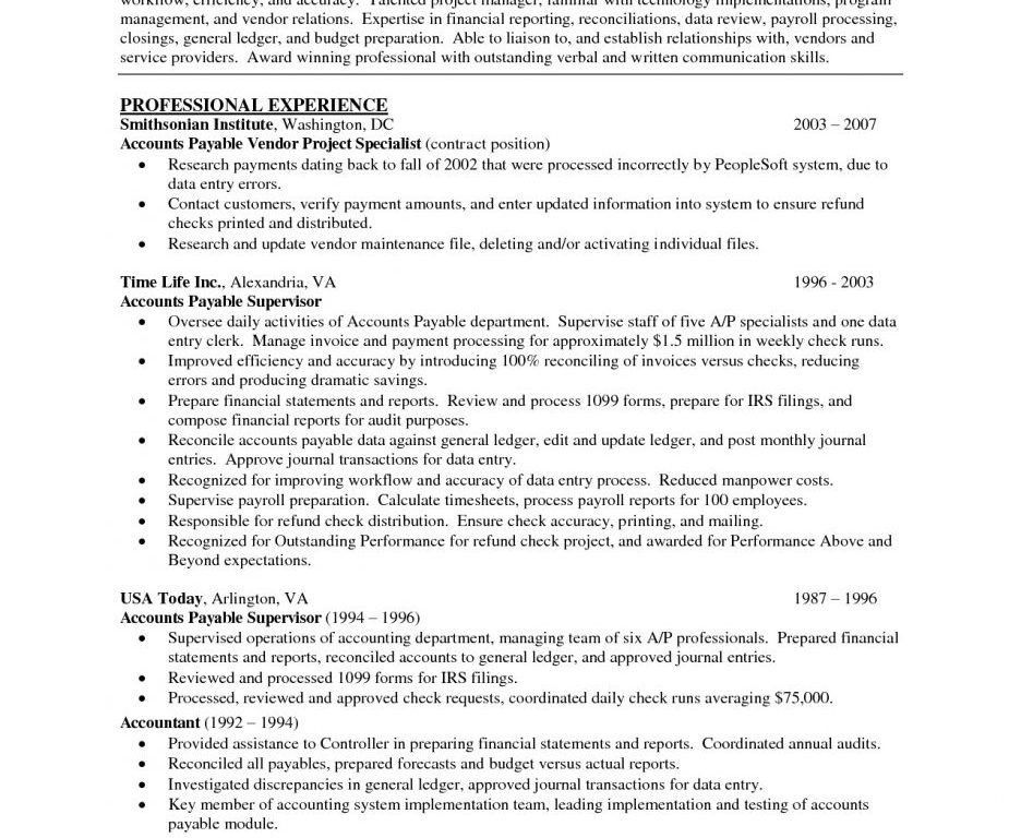 lovable accounts payable resume sample receivable template ...