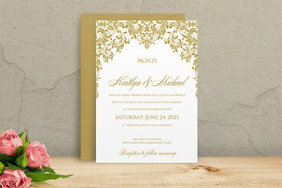 Printable Wedding Invitation Template - DOWNLOAD Instantly ...