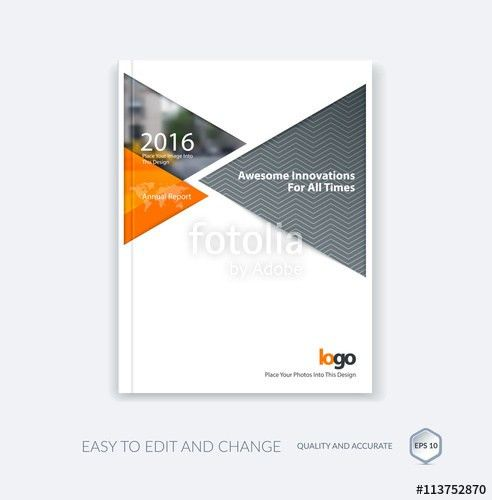 """Cover design template for annual report with arrows"""" Stock image ..."""