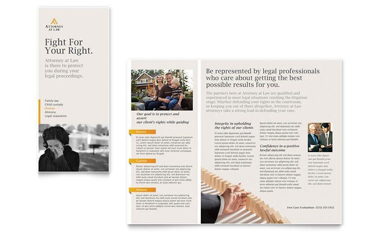 Legal Advocacy Tri Fold Brochure Template - Word & Publisher