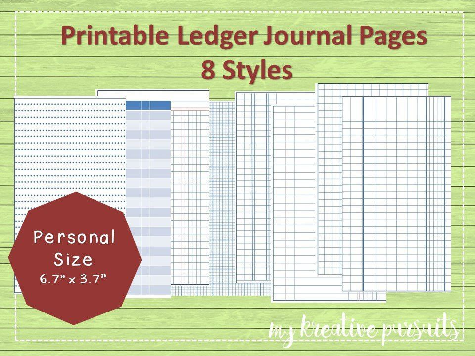 Printable Bullet Journal Papers Ledger Papers Midori Inserts