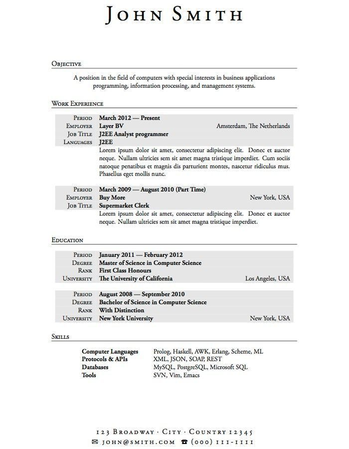 examples of resumes resume template simple student high school ...