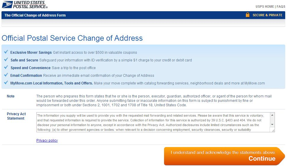 United States Postal Service (USPS) Change of Address - How To ...