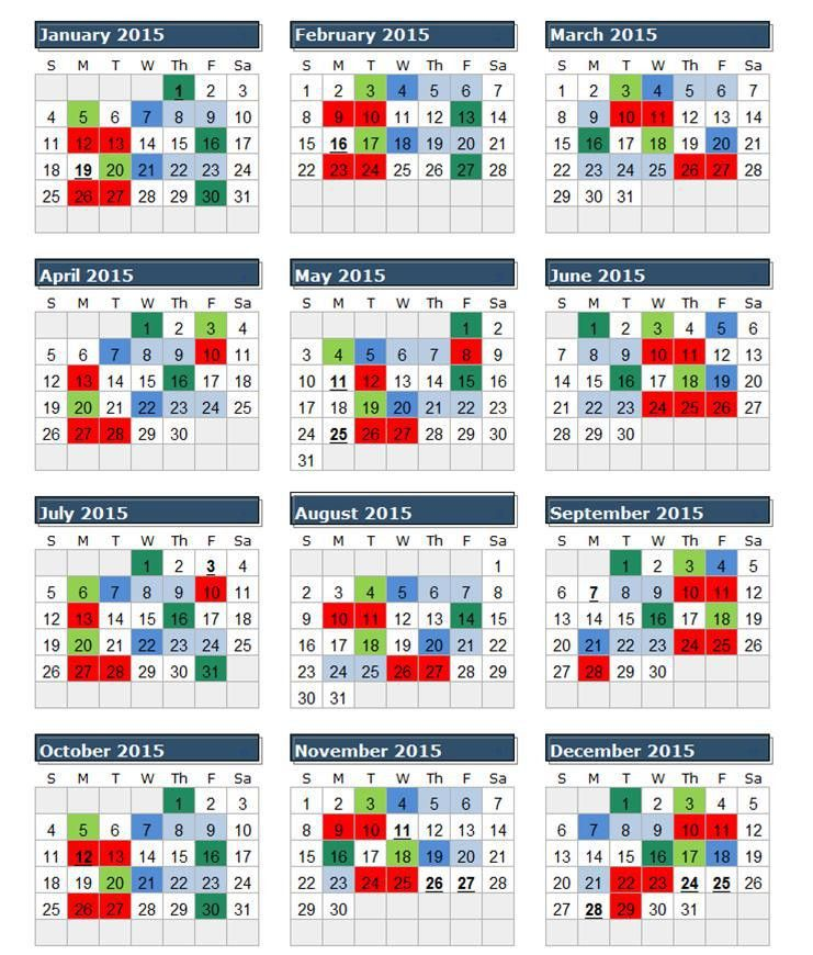 2016 Federal Calendar With Pay Periods | Blank Calendar Design 2017