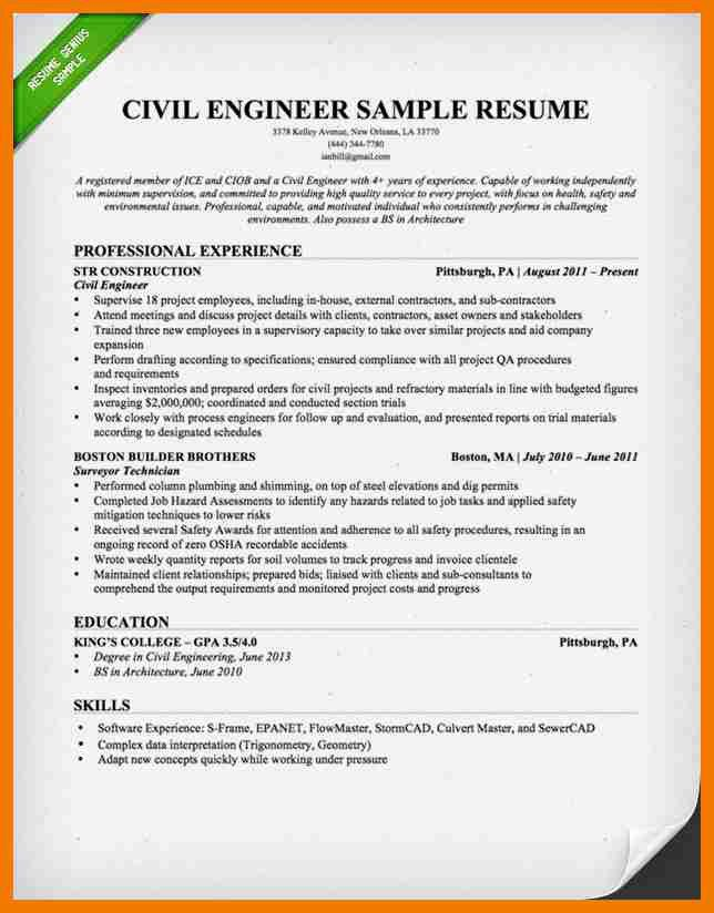 9+ civil engineers cv samples | resume holder