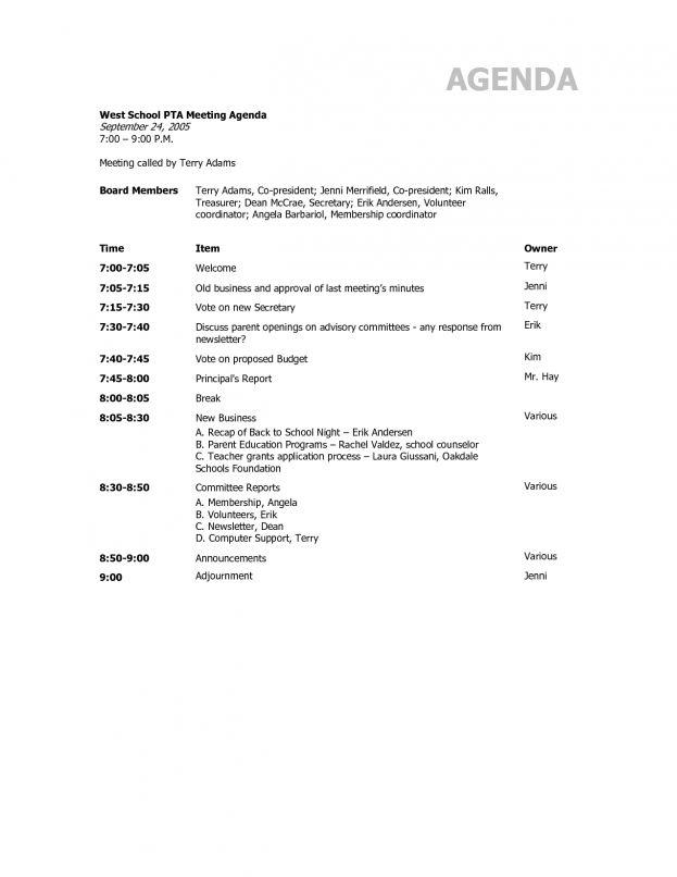 Meeting Agenda Template Doc : Baby Birth Certificate Template ...