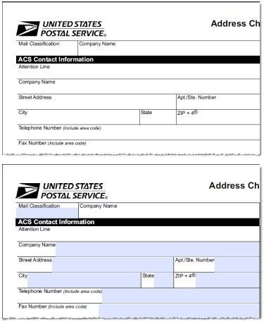 Change Of Address Printable Form] Download Usps Change Of Address ...