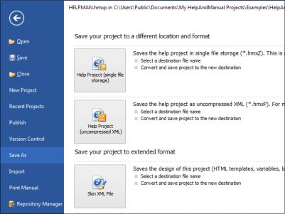 Help+Manual authoring software: User Interface Screenshots