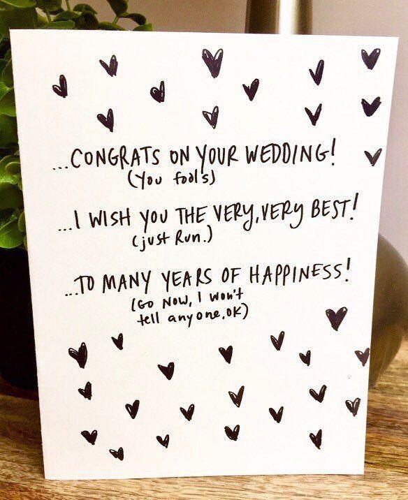 Wedding Card Unique Funny