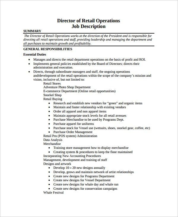 Fantastic Director Of Operations Resume 1 Director Resume Example ...