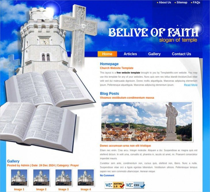 10 Free Church Website Themes & Templates | Design Trends ...