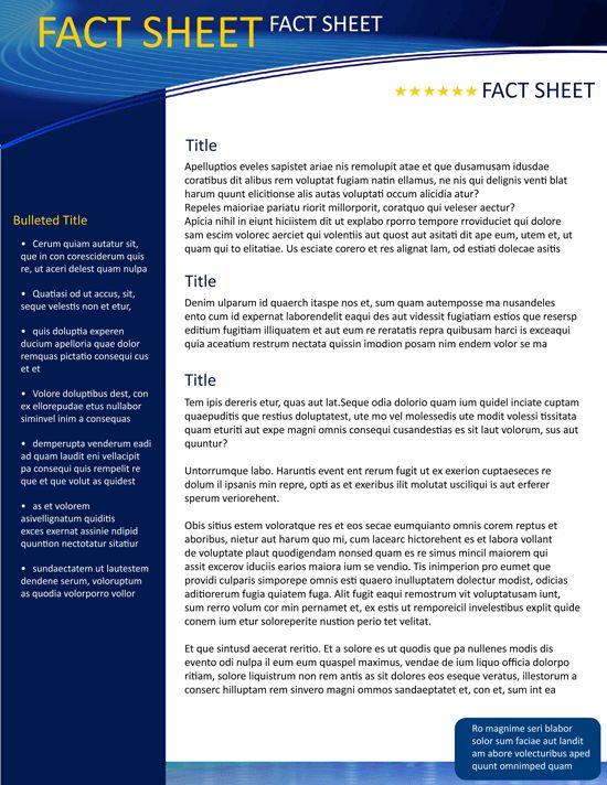 Fact Sheet Template | eknom-jo