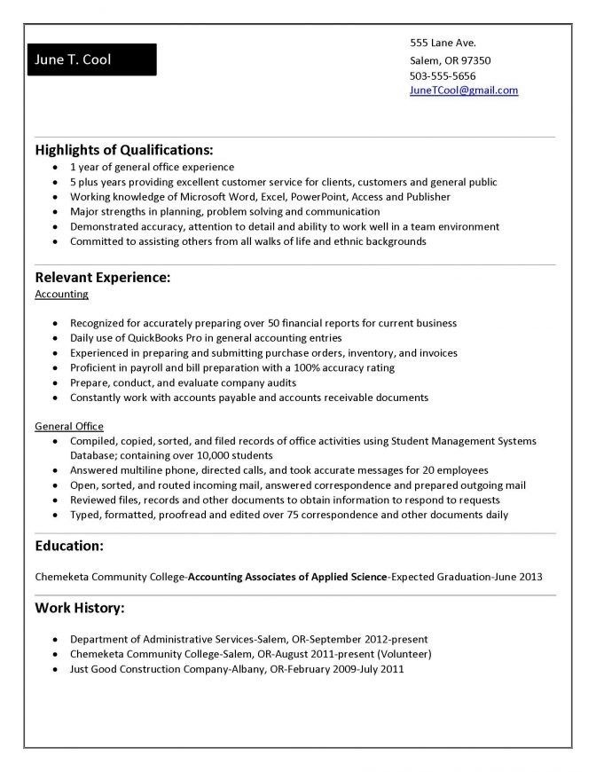 College Student Resume. 8 Resume Examples For College Students ...
