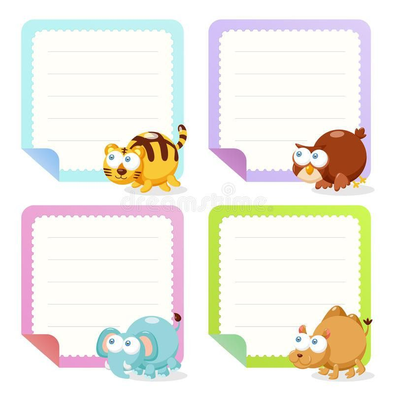 Cute Animal Note Papers Collection Stock Photo - Image: 31533610