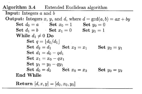 elementary number theory - Extended Euclidean Algorithm and ...