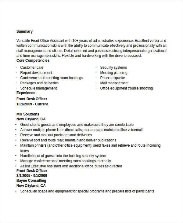 Administration Resume Examples - 28+ Free Word, PDF Documents ...