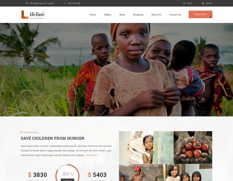 50+ Best Charity Website Templates Free & Premium - freshDesignweb